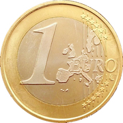 1 euro (1er type, 1ère carte) – revers