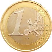 1 euro (1er type, 1ère carte) -  revers