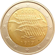 2 euros Indépendance de la Finlande – avers