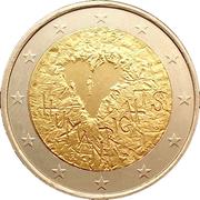 2 euros Droits de l'homme – avers