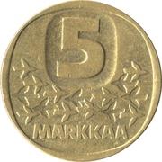 5 markkaa – revers