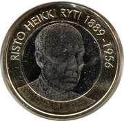 5 euros Risto Ryti – revers