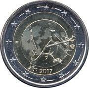 2 euros Nature finlandaise – avers