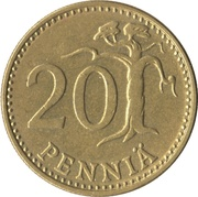 20 penniä – revers