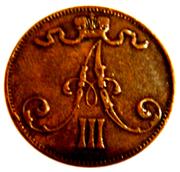 5 penniä - Alexandre III – avers