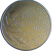 20 euros Mer Baltique (argent 500‰) – avers