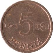 5 penniä – revers