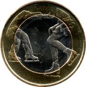 5 euros Patinage artistique – revers