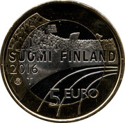 5 euros Hockey sur glace -  avers