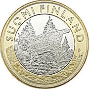 5 euros Le lynx boréal en Häme – avers