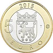 5 euros Le lynx boréal en Häme – revers