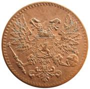 1 penni - Nicholas II (Guerre civile) – avers