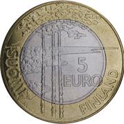 5 euros Hockey sur glace – avers