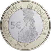 5 euros Le port d'Helsinki – avers