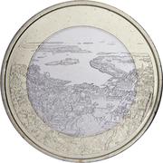 5 euros Le port d'Helsinki – revers