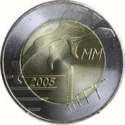 5 euros Championnat d'athlétisme à Helsinki – revers
