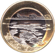 5 euros L'archipel finlandais – revers