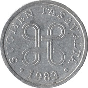 5 penniä -  avers