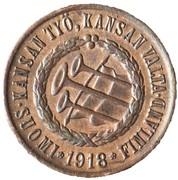 5 pennia (guerre civile) – avers