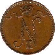 1 penni - Nicholas II – avers