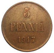 5 penniä - Nicholas II (Guerre civile) – revers