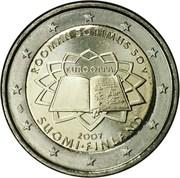 2 euros Traité de Rome – avers