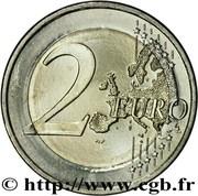 2 euros Traité de Rome – revers