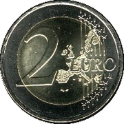 2 euros Élargissement de l'UE – revers