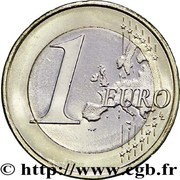 1 euro (2e type, 2e carte) – revers