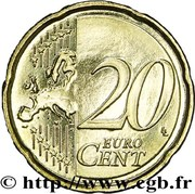 20 cents d'euro (2e type, 2e carte) -  revers