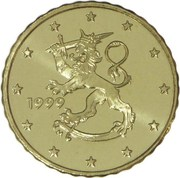 10 cents d'euro (1er type, 1ère carte) – avers