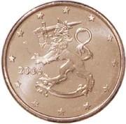 1 cent d'euro (1er type) -  avers