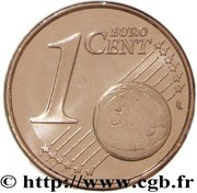 1 cent d'euro (1er type) – revers