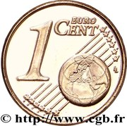 1 cent d'euro (2e type) – revers