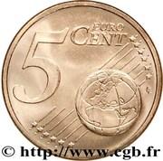 5 cents d'euro (2e type) -  revers