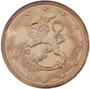 5 cents d'euro (1er type) -  avers