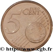 5 cents d'euro (1er type) – revers