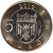 5 euros Finlande du Sud-Ouest – revers
