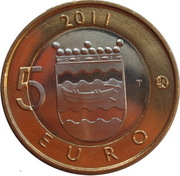 5 euros Uusimaa – revers