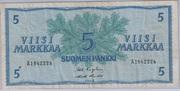 5 Markkaa – avers
