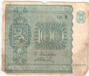 100 Markkaa – avers