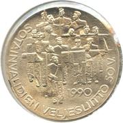 100 Markkaa (50e Anniversaire de l'organisation des anciens combattants invalides ) – revers