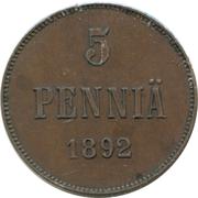 5 penniä - Alexandre III – revers