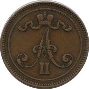 10 penniä - Alexandre II – avers