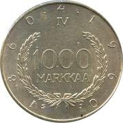 1000 markkaa (Snellman) – revers