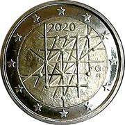 2 euros Université de Turku – avers