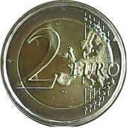 2 euros Université de Turku – revers