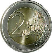2 euros Väinö Linna – revers