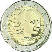 2 euros Väinö Linna – avers