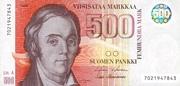 500 Markkaa – avers